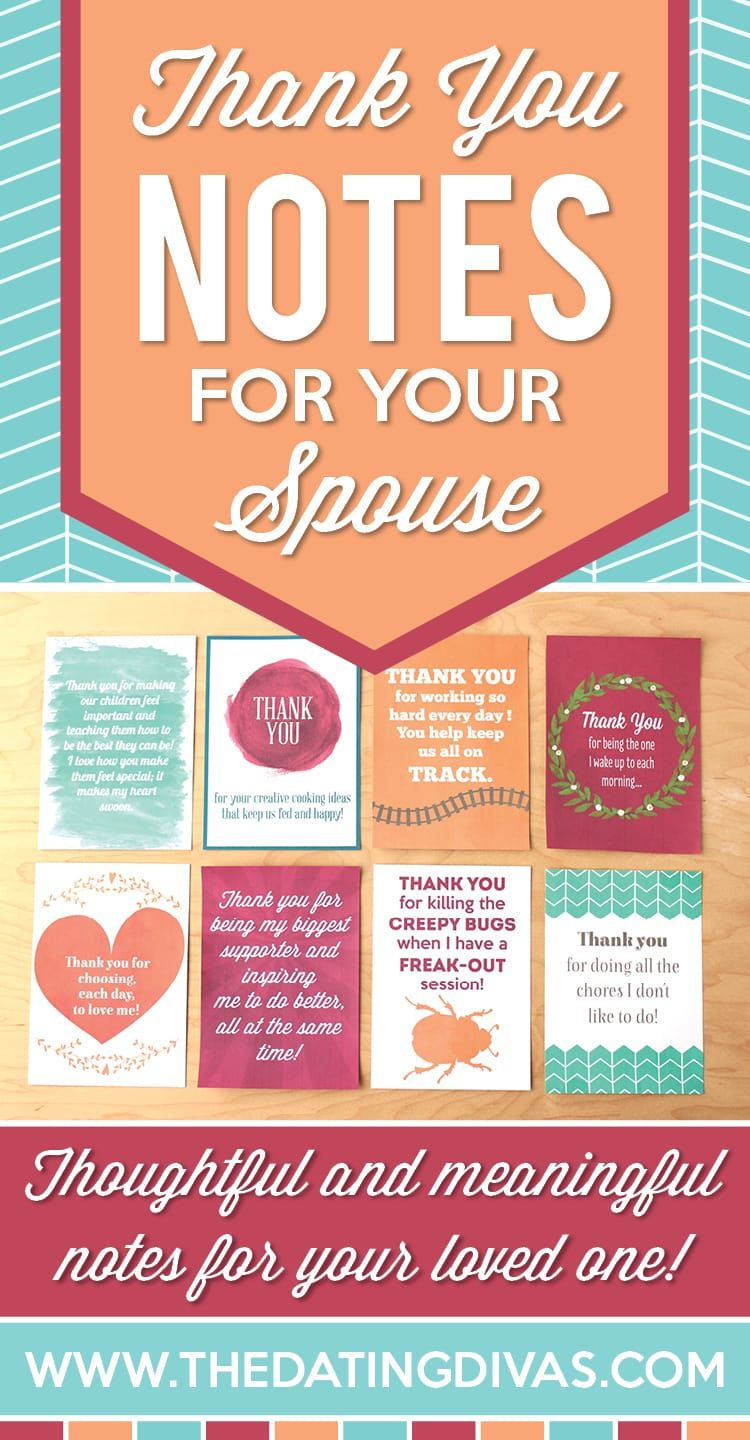thank you notes for your spouse
