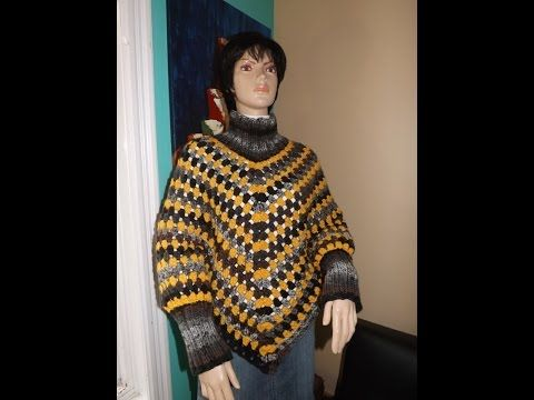 ▷ Crochet Poncho With Sleeves - YouTube | <3 knit/crochet <3 ...