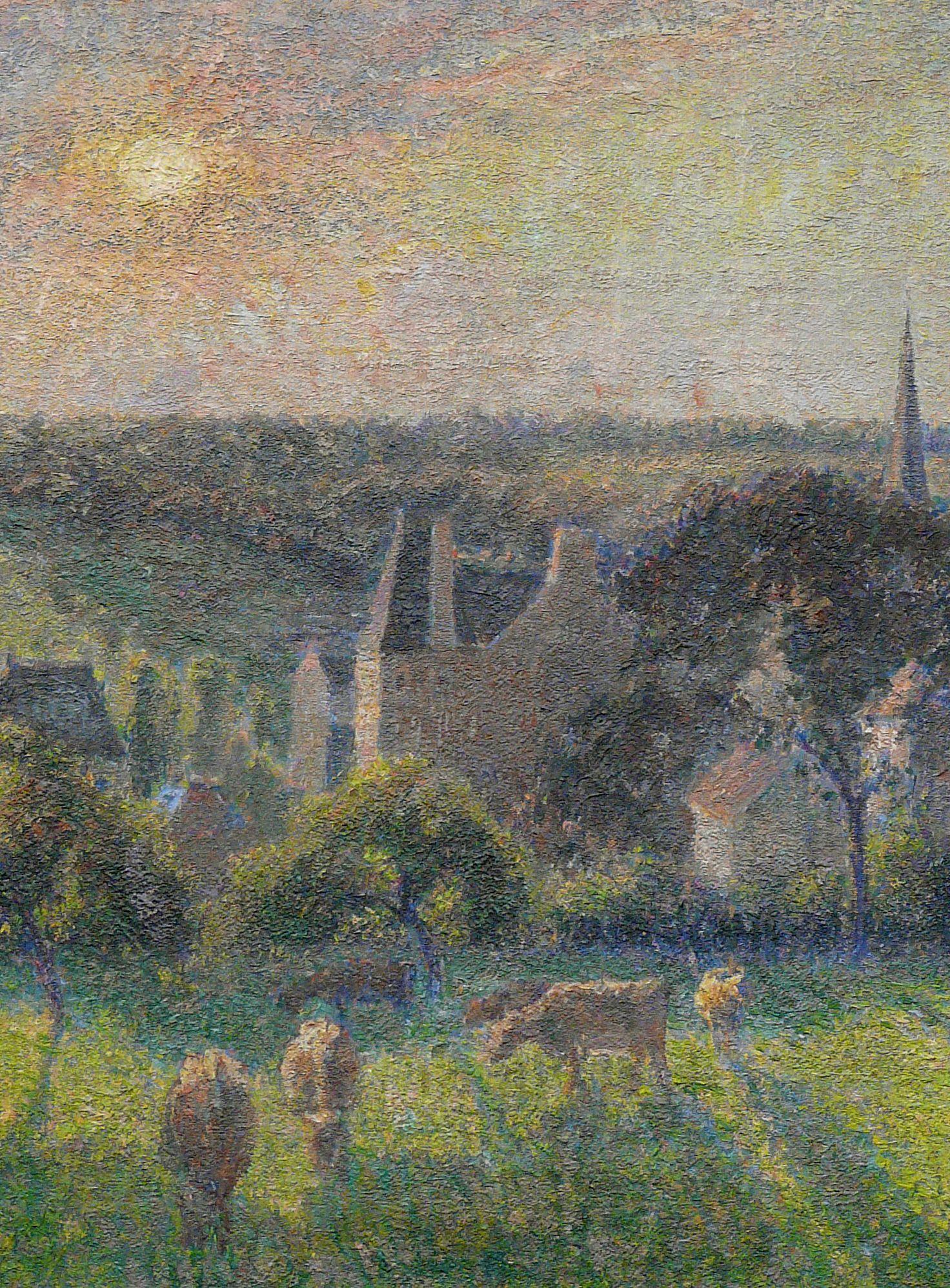 PISSARRO Camille,1897 Paysage à Eragny avec Eglise et