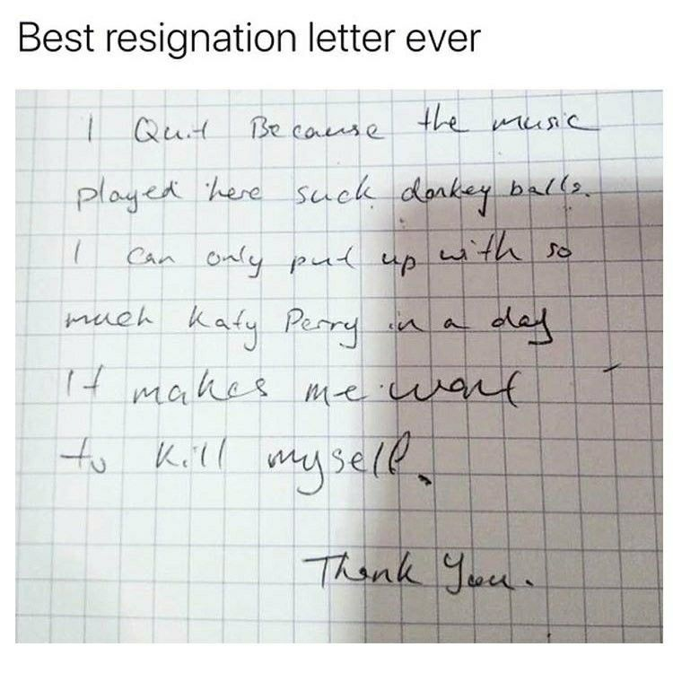 Resignation Letter  Angry Little Mexican