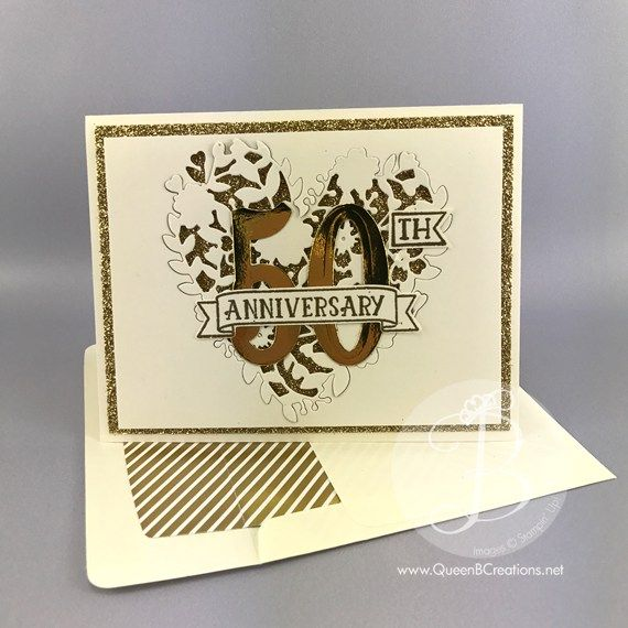 Stampin Up Bloomin Love Number Of Years Make A Beautiful 50th Anniversary Golden 50th Anniversary Cards Golden Anniversary Cards Wedding Cards Handmade