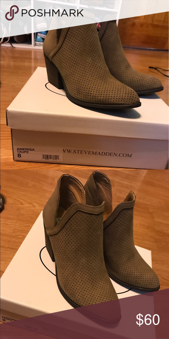 821bab000d4 Steve Madden Amerisa ankle booties Brand new perforated ankle boots with v cut  outs. Never worn Steve Madden Shoes Ankle Boots   Booties