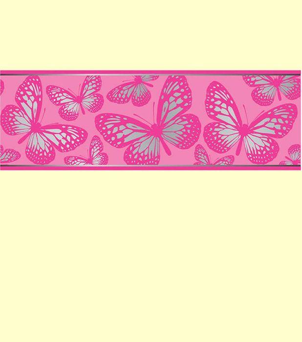 Wallpaper Border Designs Wallpaper Borders Uk At Great Prices Butterfly Wall Pink Wallpaper Border Self Adhesive Wallpaper