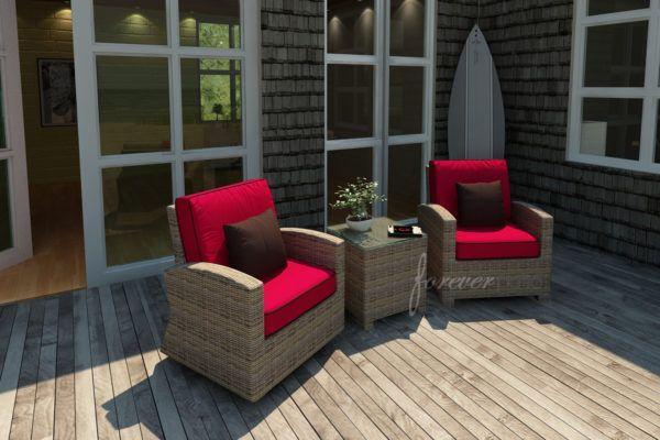 cypress outdoor patio 3 pc. set