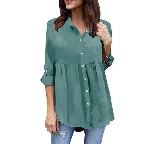 929adcd09ee7d3 Misaky Plus Size Women Plus Size Clothing, Misaky Long Sleeve Work Blouse  Office Shirt Tunic Tops