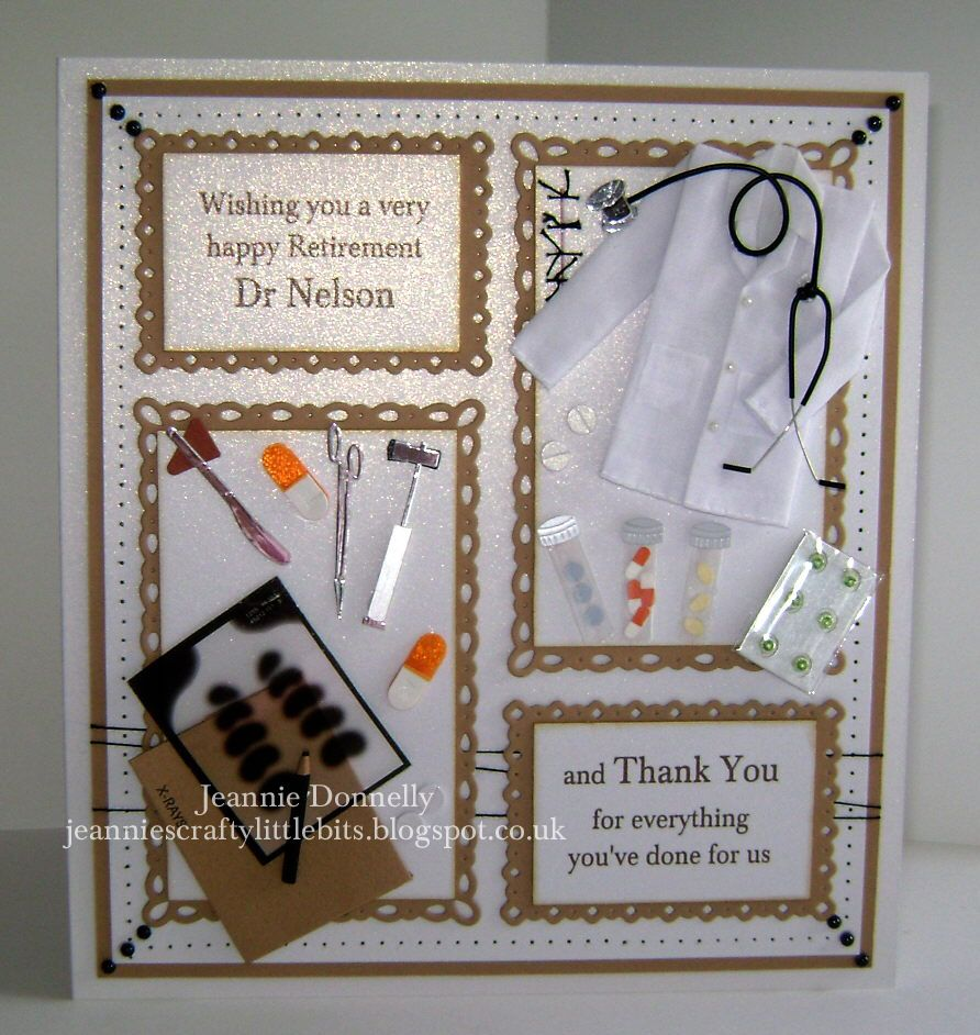 how to write thank you notes for wedding gift cards%0A Retirement and Thank you Card for a Doctor  This is a bit different for me