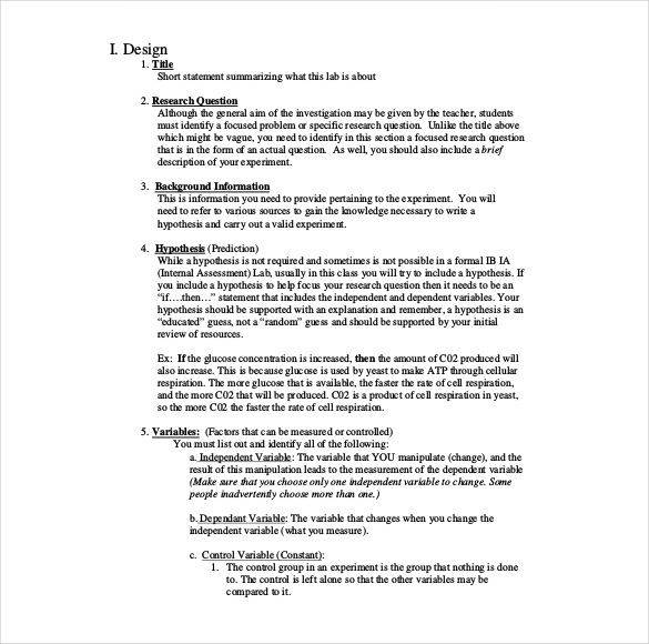 Chemistry Lab Report Template 3 Templates Example Templates Example Lab Report Lab Report Template Biology Labs