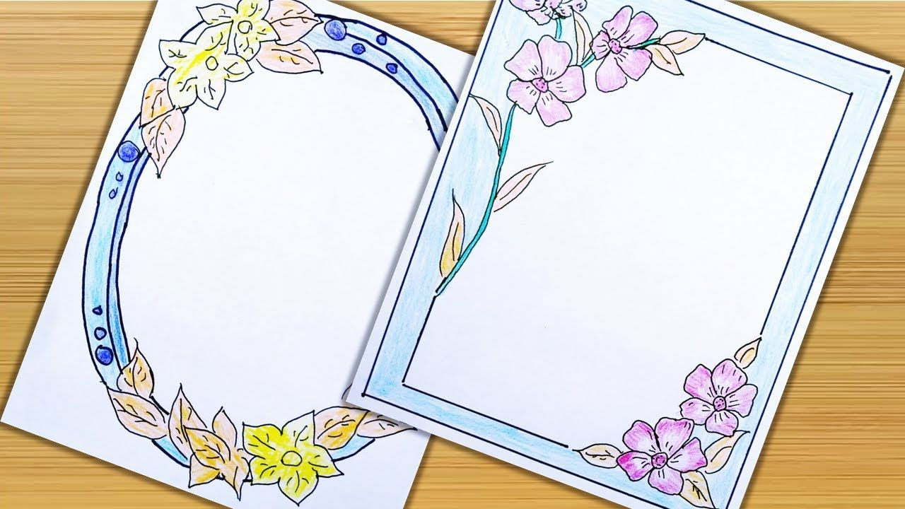Project Design Flower Border Project Design New Style Cuadernos