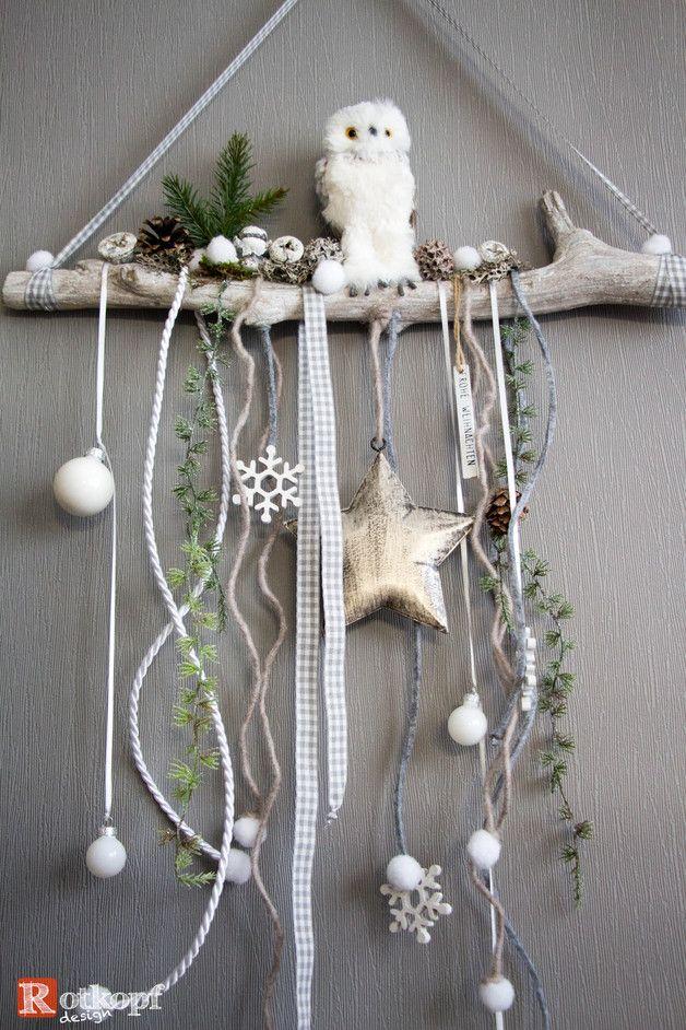 Adventskranz - Türschmuck Weihnachten 3 - ein Designerstück von Rotkopf-design bei DaWanda #rustikaleweihnachten