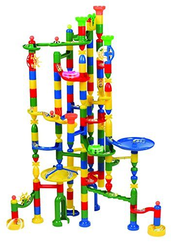 Marble Runs Edushape Marbulous Marble Run Contains 202 Pieces And 50 Marbles Total 252 Pc Set Sturdy Setup With Clear Marble Run Learning Toys Building Toys