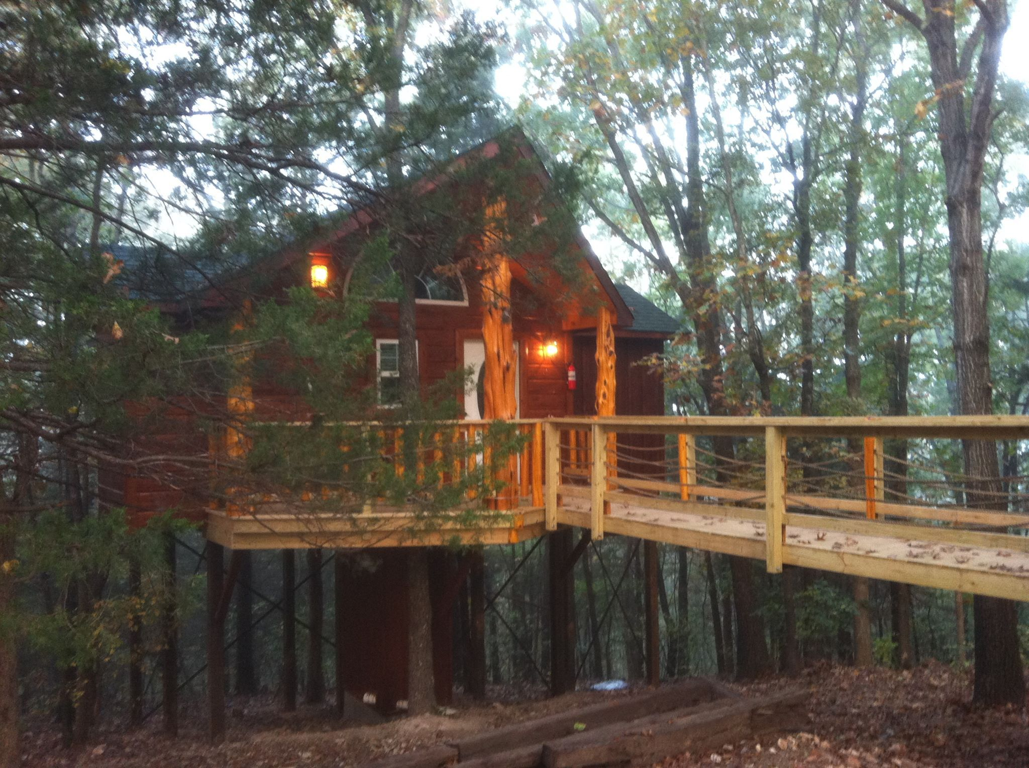 anastasia in underneath cabins sleep treehouse treehouses this ar the oklahoma at forest enchanted o canopy arkansas epic