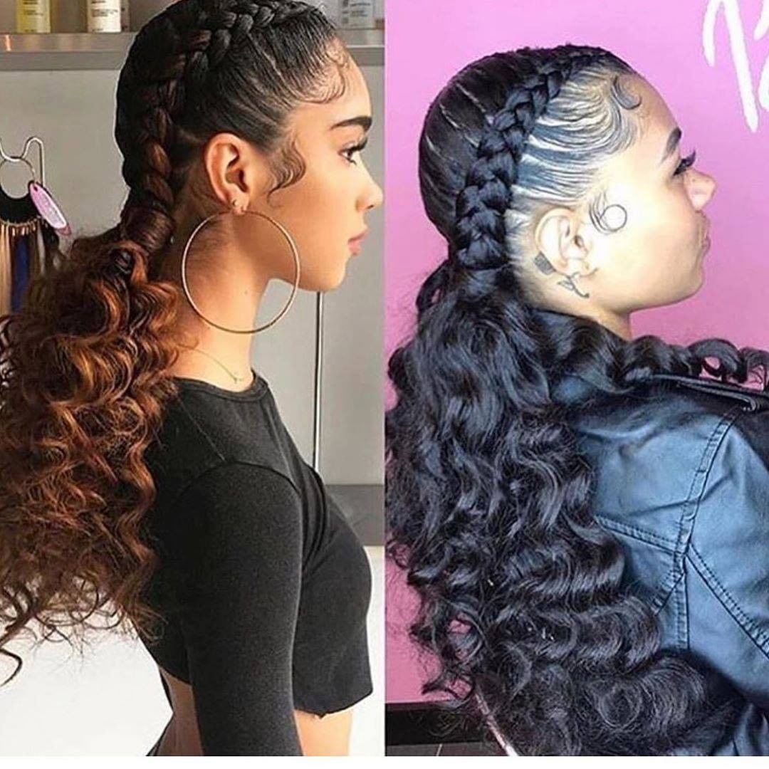 35+ Ponytail with braids in the front ideas in 2021