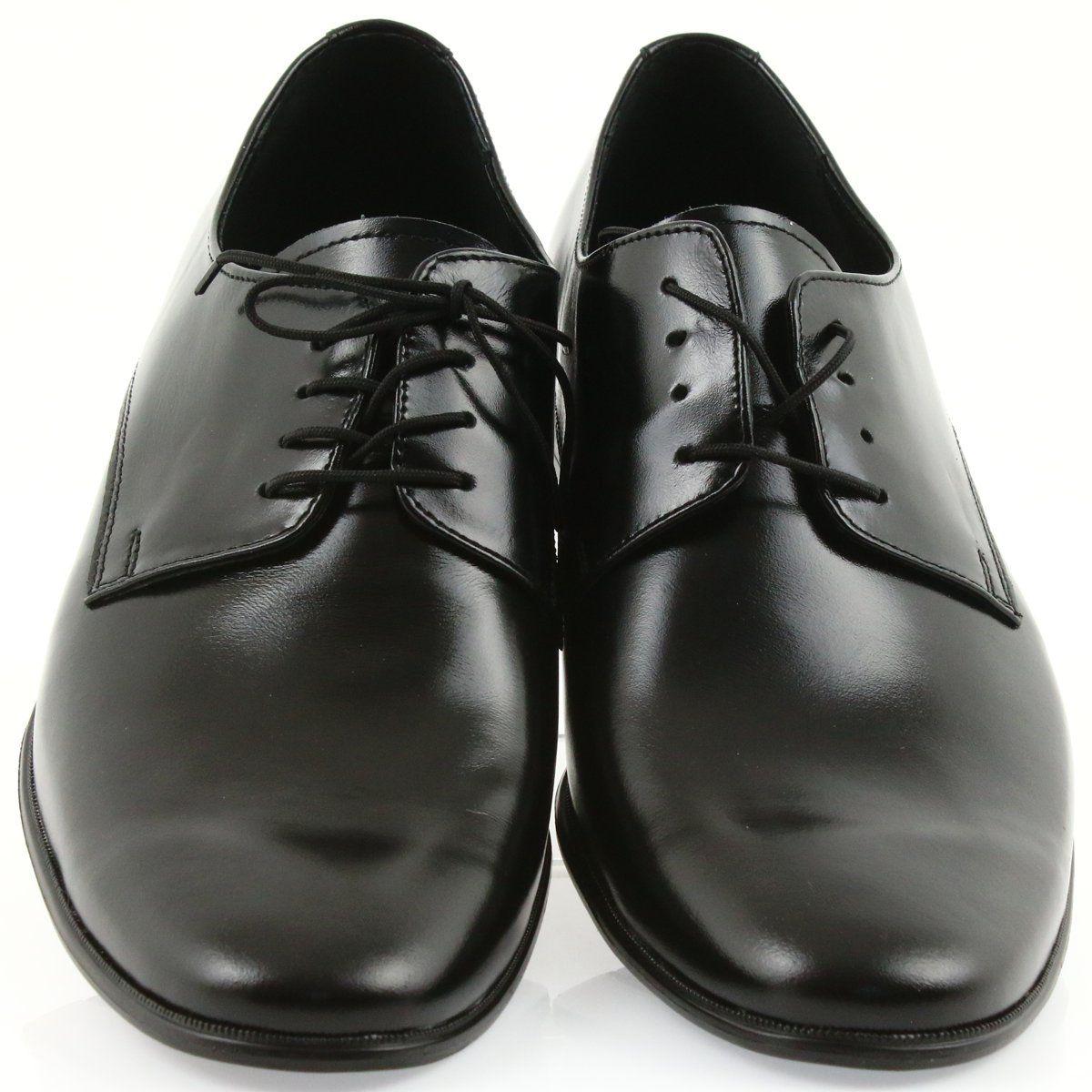 Czarne Skorzane Polbuty Klasyczne Tur 231 Dress Shoes Men Dress Shoes Oxford Shoes