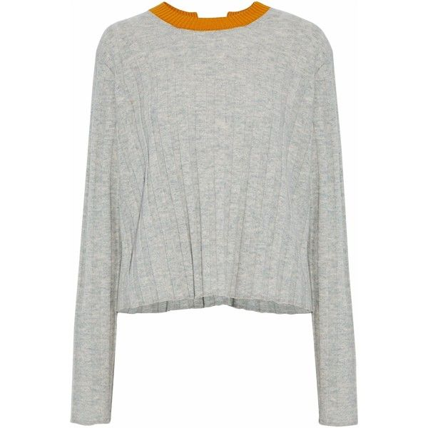 Derek Lam 10 Crosby Buckle-detailed ribbed-knit wool-blend sweater ... 6ef341e43