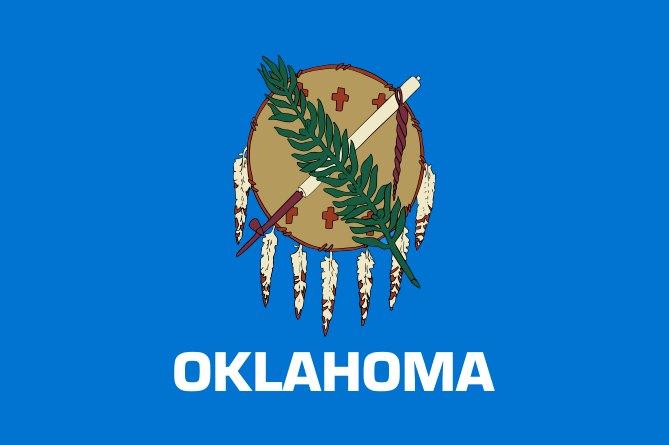 Illustration Oklahoma State Flag Credit Wikimedia Commons Read More On The Genealogybank Blog Oklahoma Oklahoma Flag Oklahoma State Flag Us States Flags