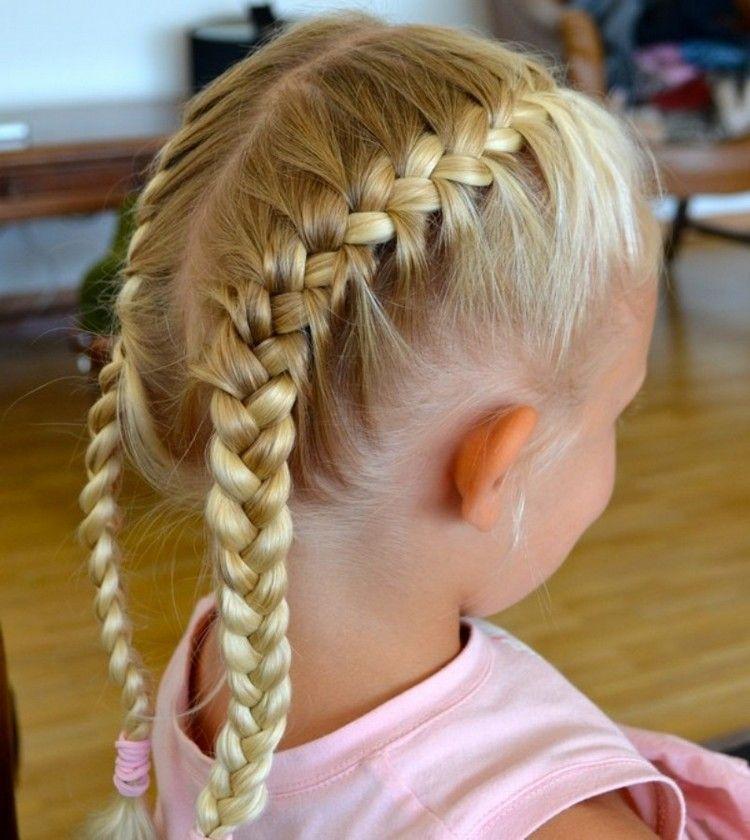 Einfache Flechtfrisuren Kinder Französische Zöpfe Flechten Friseur