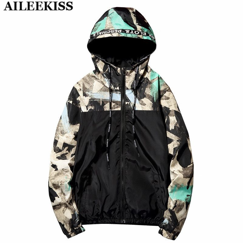 2017 cargo jackets men bomber plus size casual patchwork male