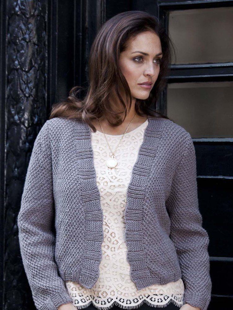 Bari Ruffle-Rib Cardigan in Filatura Di Crosa Zara   Knitting ...
