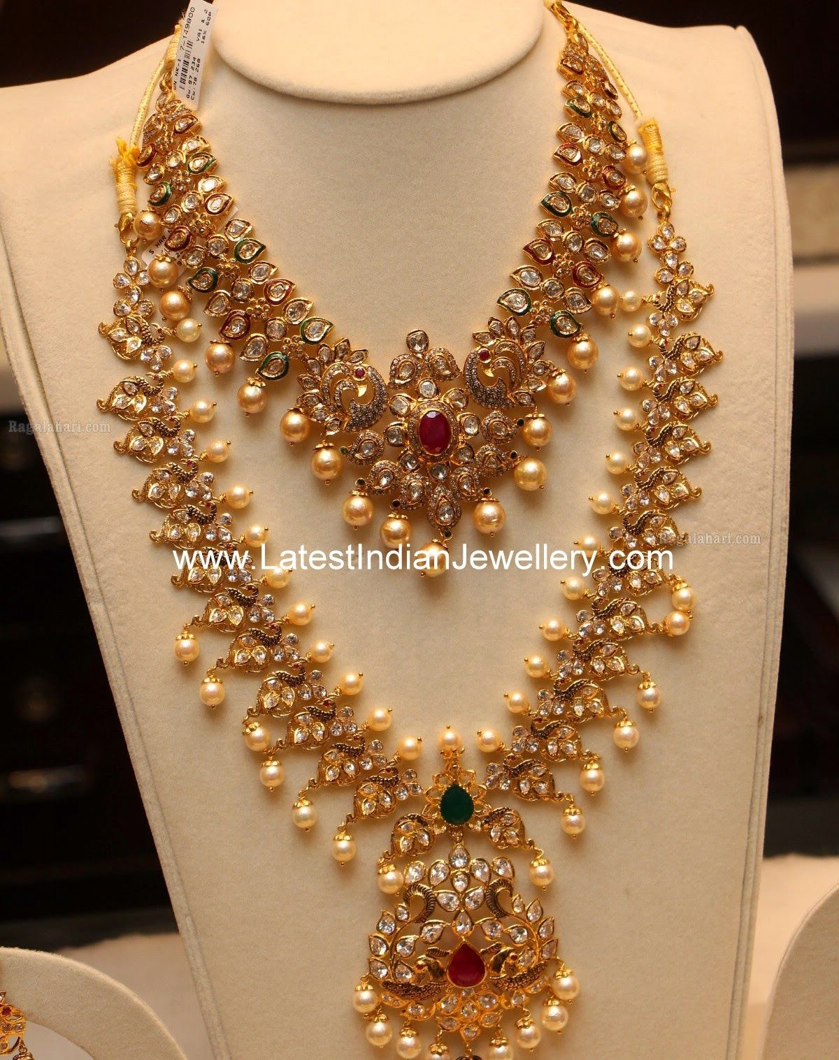 Pachi Work Necklace Haram Set | Indian jewelry, Jewel and ...