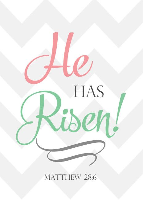 He Has Risen Cute Christian Easter Printable From Www