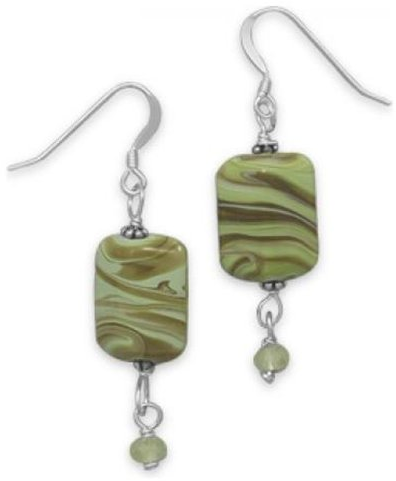 #MMA Silver               #Stud Earrings            #Green #Lampwork #Glass #Earrings                   Green Lampwork Glass Earrings                                                 http://www.snaproduct.com/product.aspx?PID=7333585