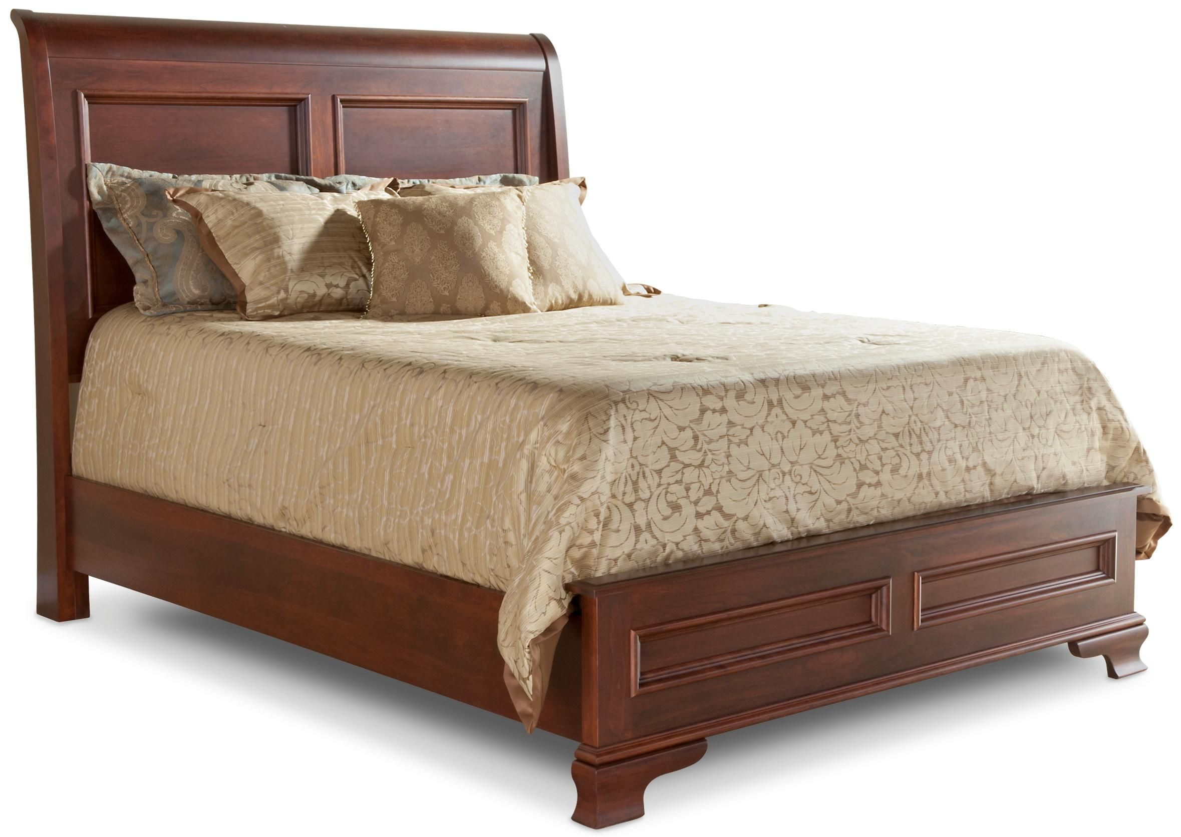 Amish Classic Sleigh Bed With Low Footboard By Daniel S Amish