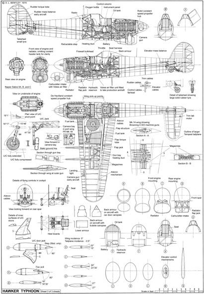 hawker tempest cockpit coloring pages | Hawker Typhoon (revised and updated) | High school ...