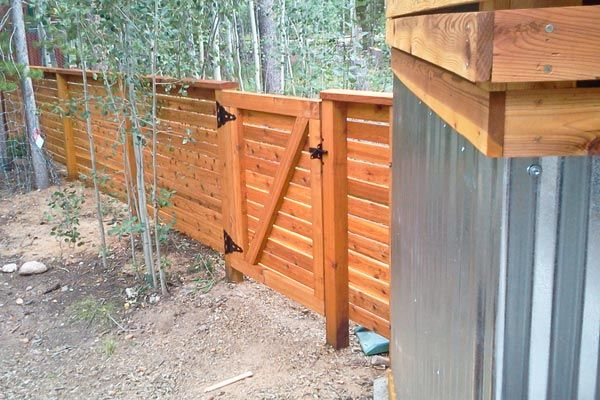 We Built A Modern Mountain Fence On A Property In Golden