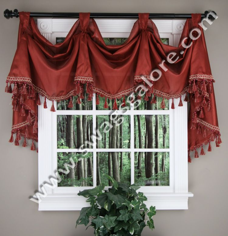Serenity Victory Valance Burgundy Curtains Pinterest