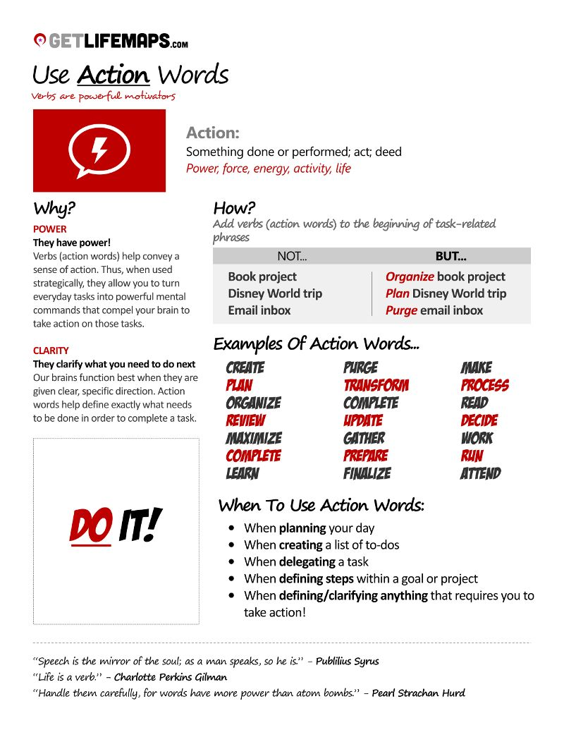 List Of 21 Great Call To Action Verbs Action Verbs Verbs List