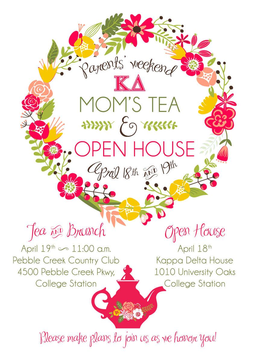 Mom S Weekend Invitation Delta House Open House