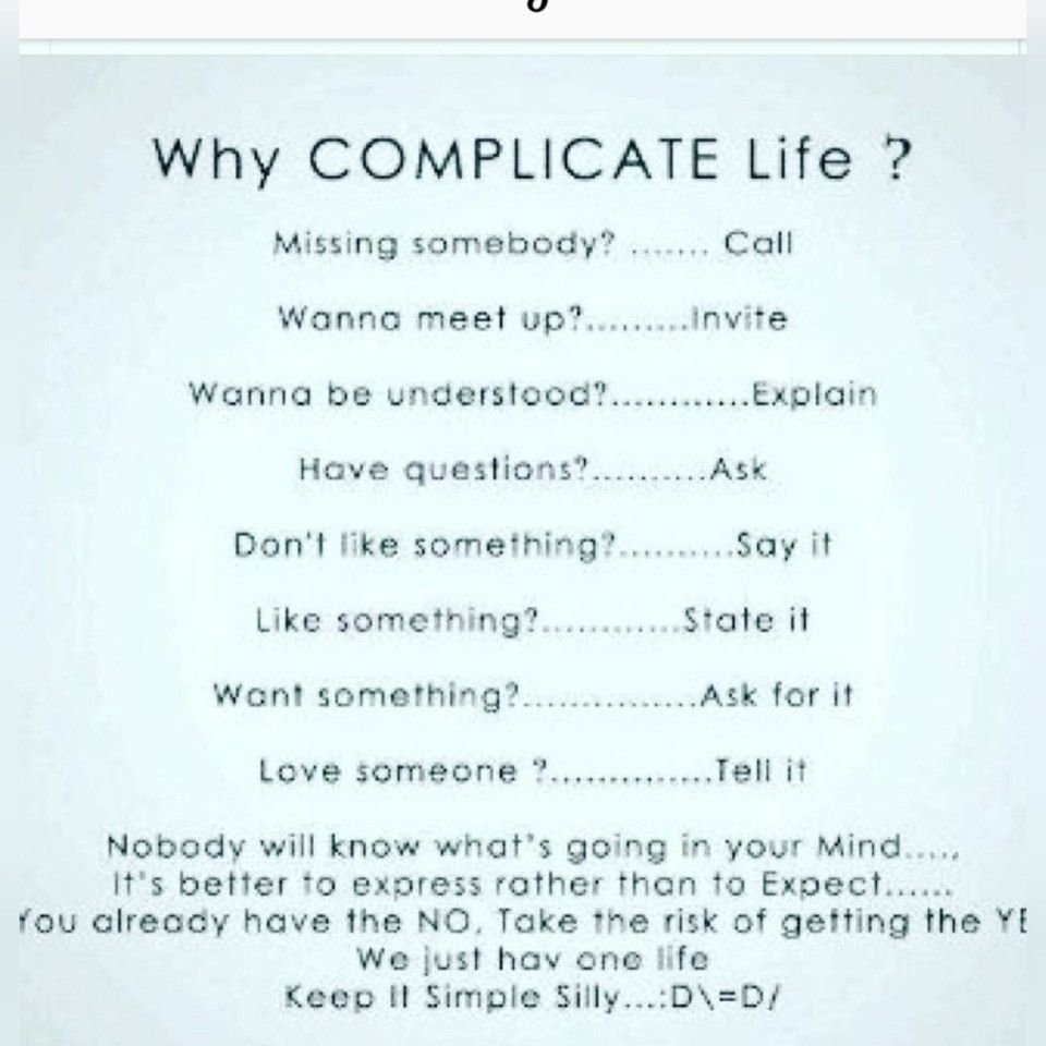 Pin by john Mender on Quotes Why complicate life, This