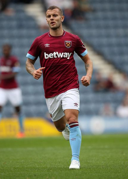 Jack Wilshere of West Ham United during the Pre-Season Friendly between Preston North End and West Ham United at Deepdale on July 21, 2018 in Preston, England.