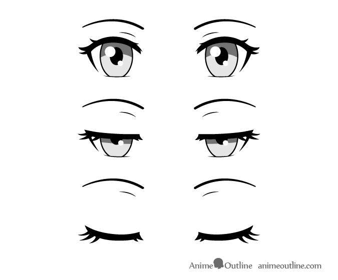 Anime Eyes Closing Olhos De Anime Olhos Manga Olhos Desenho