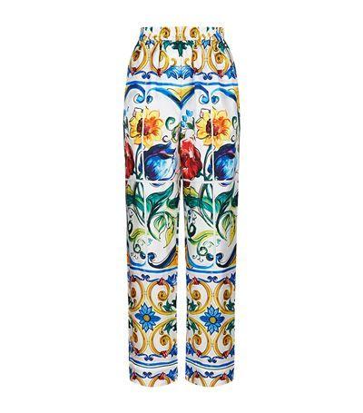 Dolce & Gabbana Printed Silk Pyjama Trousers available to buy at Harrods. Shop women's trousers online and earn Rewards points.
