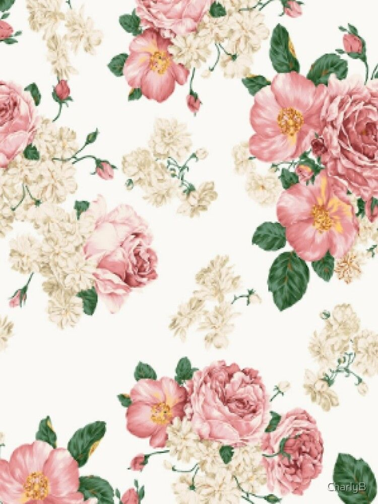 Flower Design Chiffon Top By Charlyb Vintage Flowers Wallpaper Floral Wallpaper Desktop Tumblr Flower