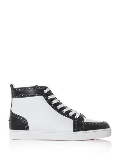 Fleuri leather high-top trainers