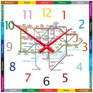 Tube Map Clock - home accessories