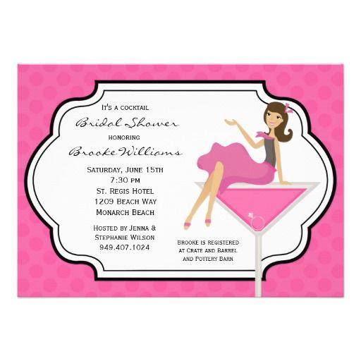 Cocktail Bridal Shower Invitation Shower invitations Bridal
