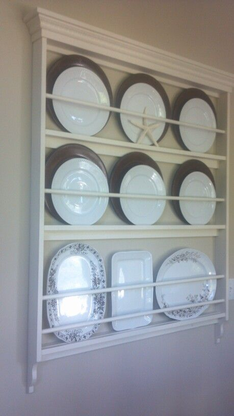 Idea for platter storage in the butler's pantry #plateracks