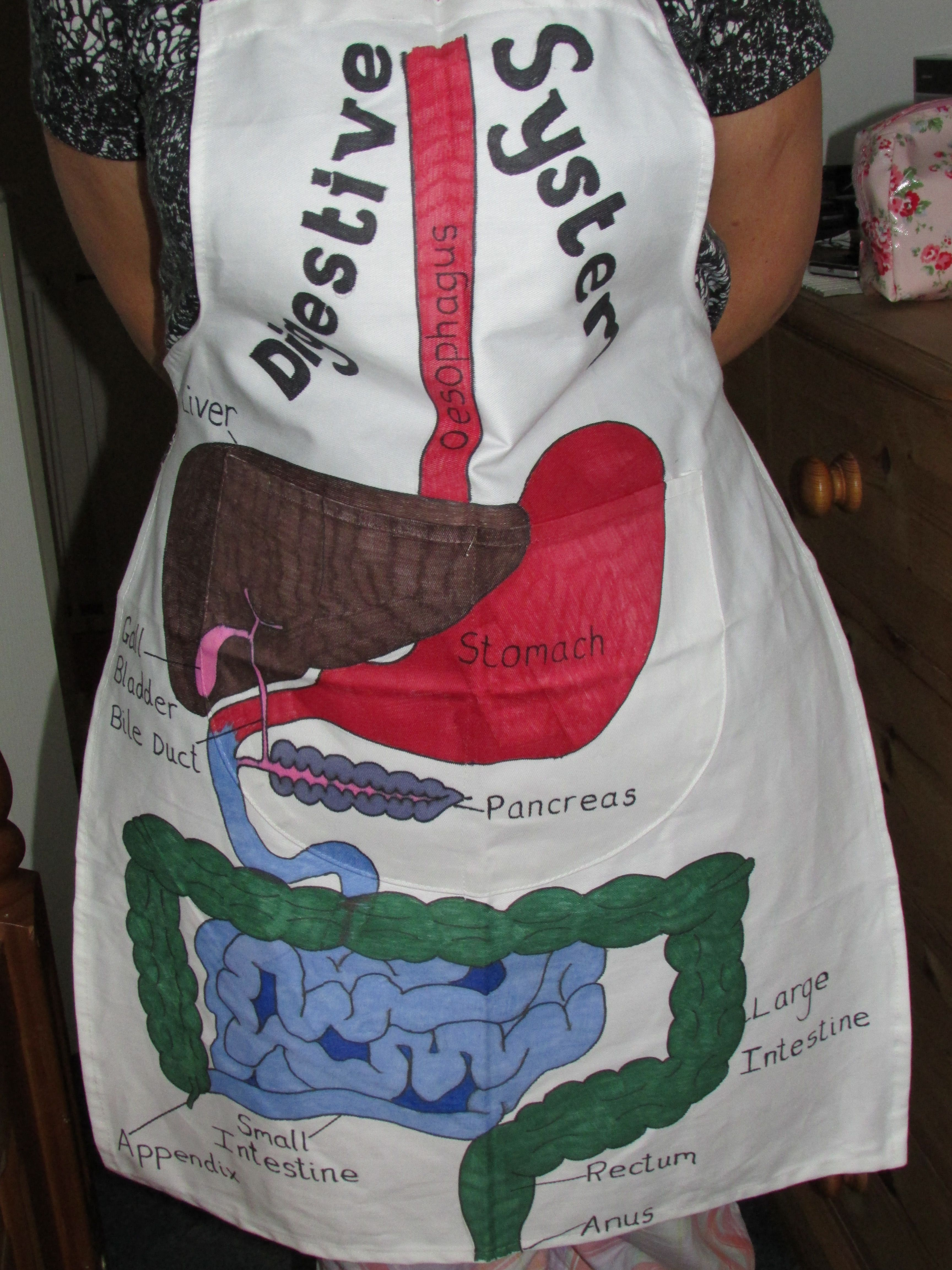 Childs Apron And Sharpie Pens To Create A Wearable