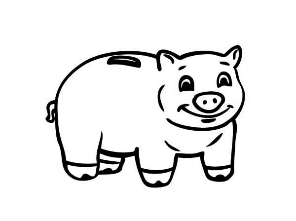 35+ Piggy Bank Clipart Black And White
