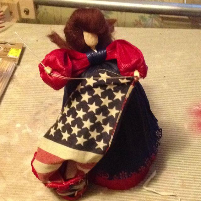 Betsy Ross cornhusk doll