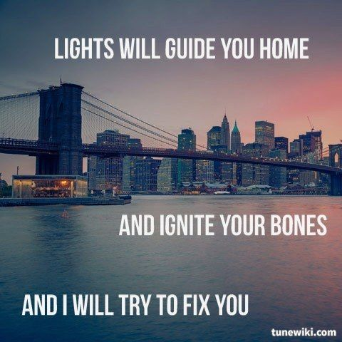 """-- #LyricArt for """"Fix You"""" by Coldplay"""