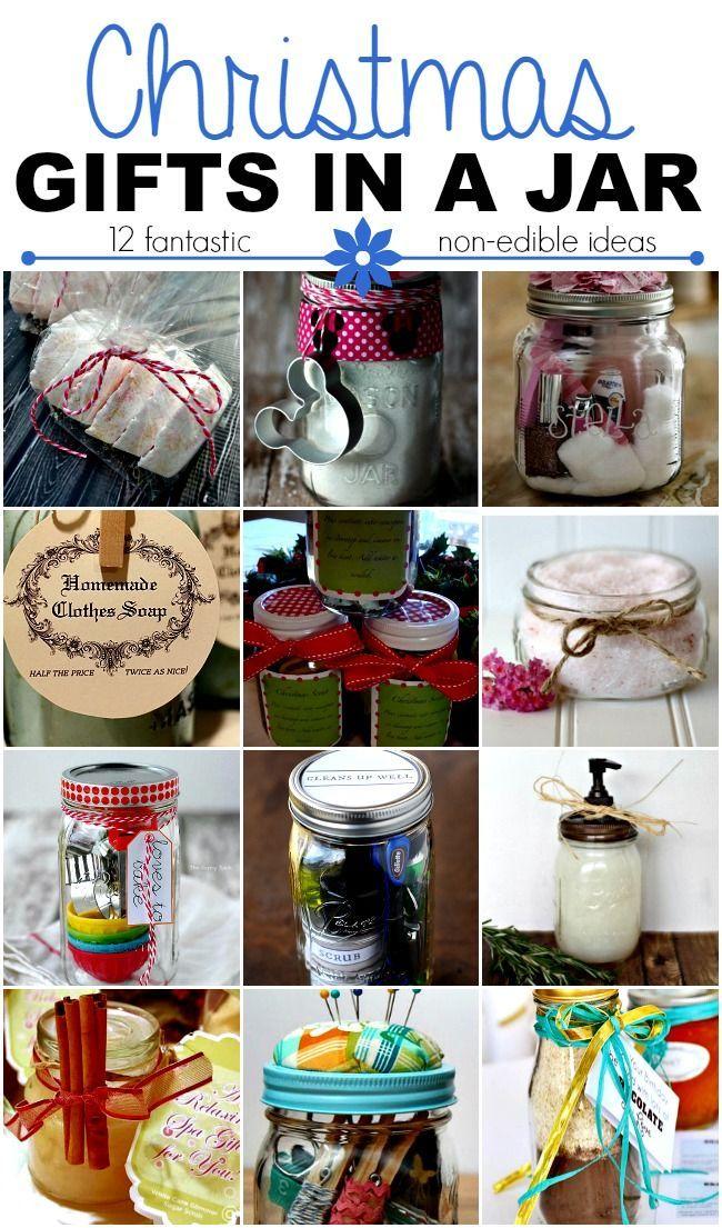 Christmas gifts in a jar non edible ideas diy gifts pinterest christmas gifts in a jar non edible ideas homemade solutioingenieria Images
