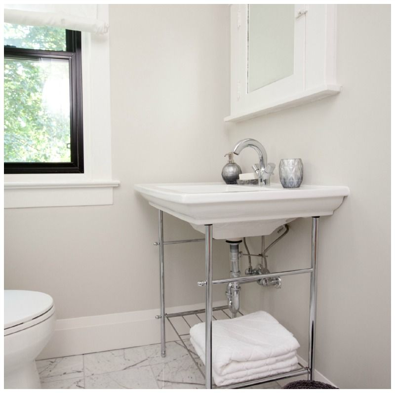 Photo On Exposed plumbing in a bathroom would you use a vanity where the plumbing is visible