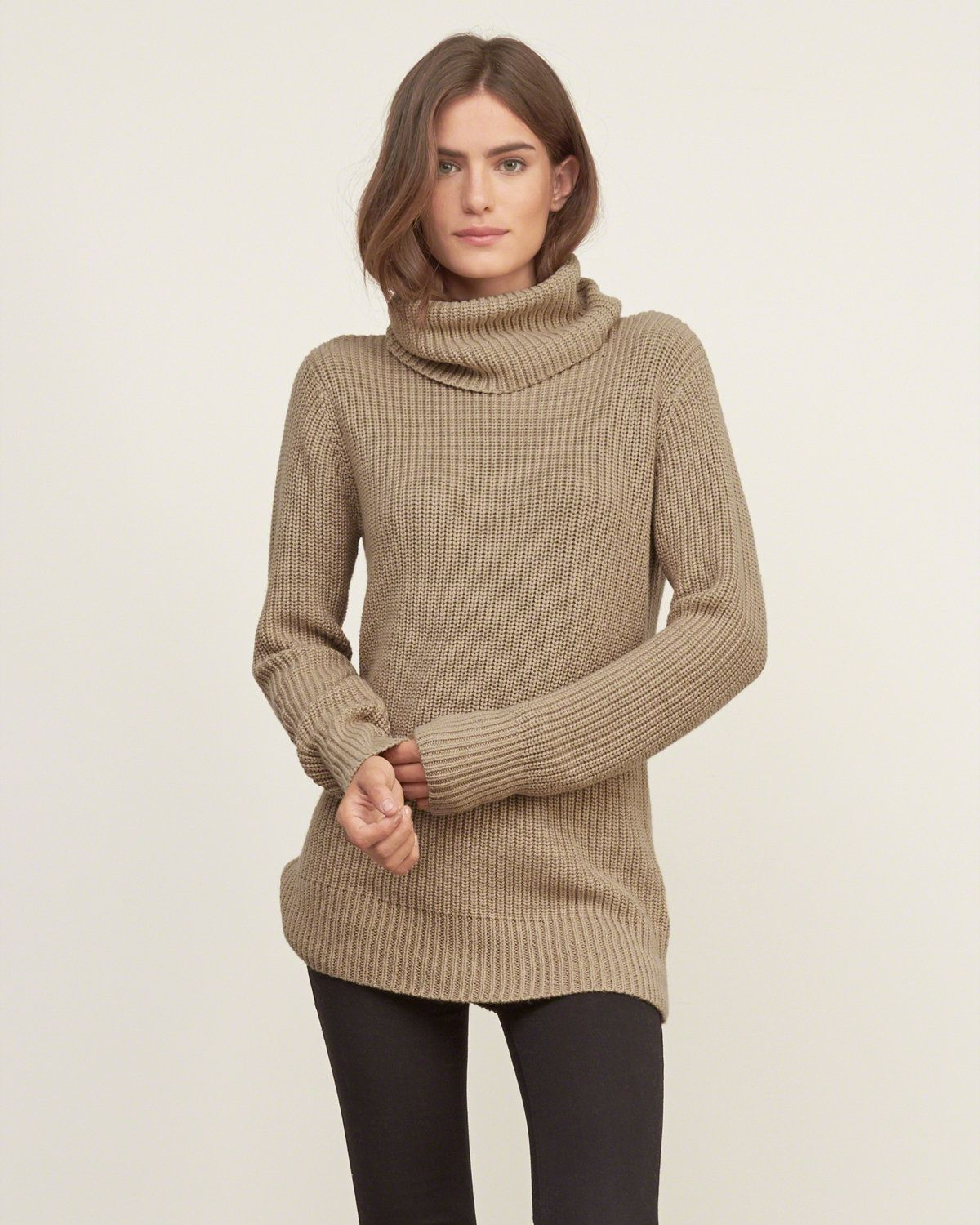 Supersoft and supercozy sweater with a comfortable foldover ...