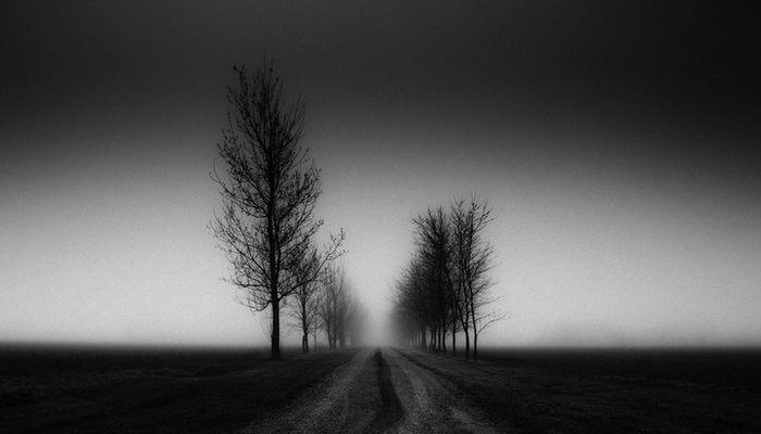 черно белый фото пейзаж
