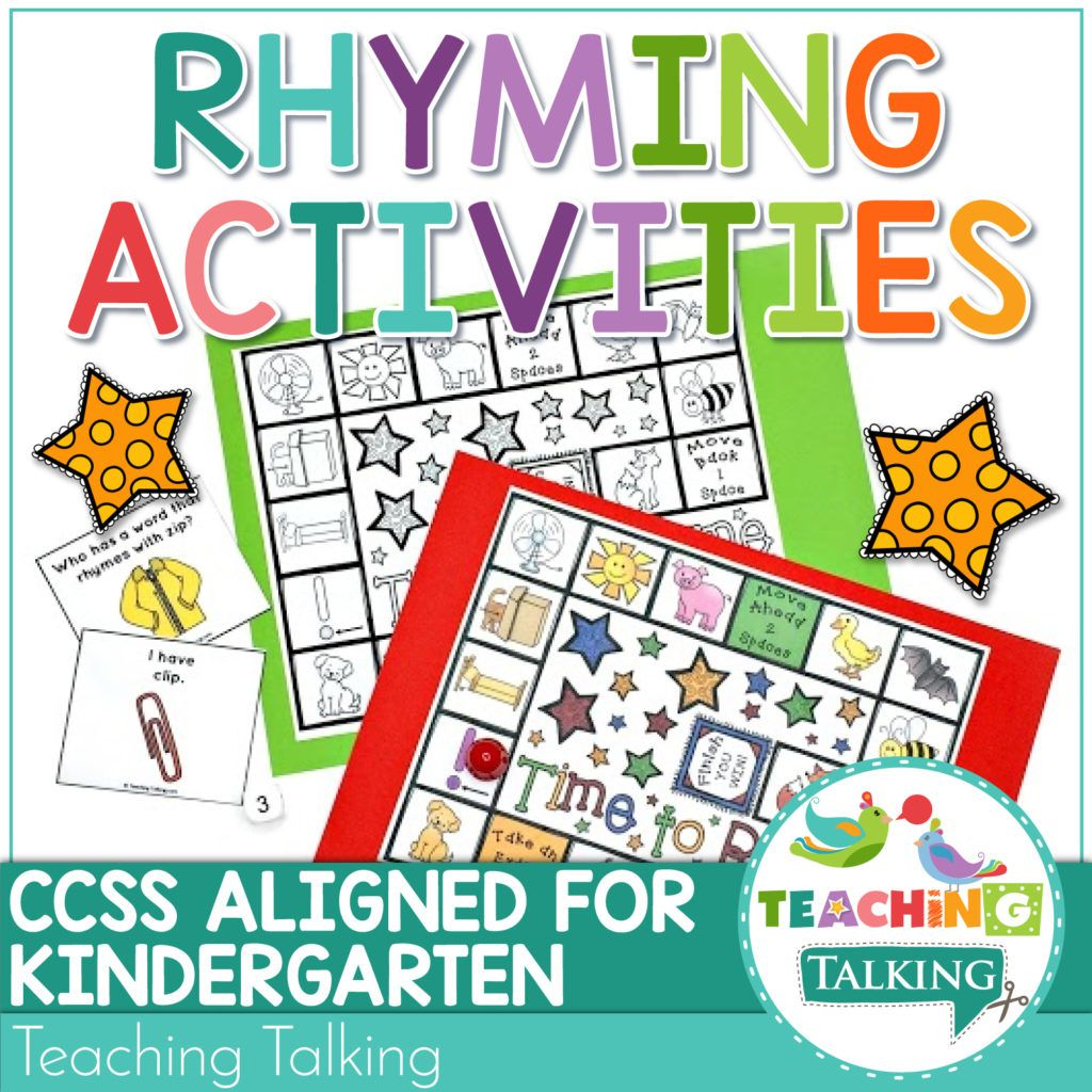 Rhyming Activities And Games For Speech Therapy