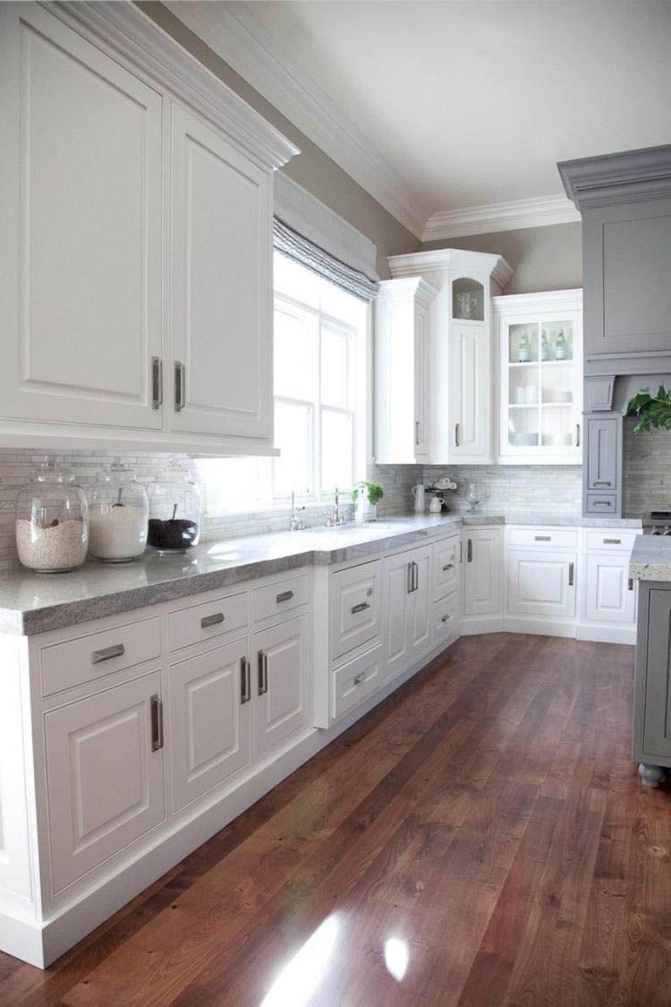 Ways To Style Gray Kitchen Cabinets With Images White Kitchen Interior Latest Kitchen Designs Kitchen Cabinet Design
